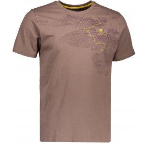 Pánské triko s krátkým rukávem ALPINE PRO UNEG 4 MTSK217 HNĚDÁ