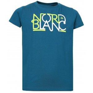 Dívčí tričko NORDBLANC THREAD NBFKT6574L BAKOVA MODRÁ