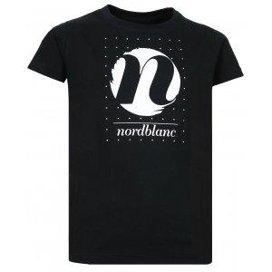 Dívčí tričko NORDBLANC SPIN NBFKT6575S ČERNÁ