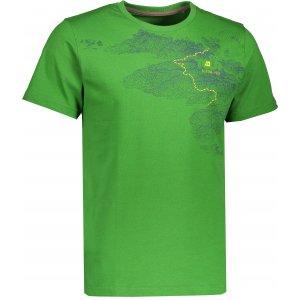 Pánské triko s krátkým rukávem ALPINE PRO UNEG 4 MTSK217 SVĚTLE ZELENÁ