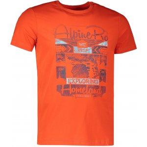 Pánské tričko s krátkým rukávem ALPINE PRO BUFF MTSJ300 ČERVENÁ