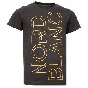 Chlapecké tričko NORDBLANC FRAME NBFKT6572S TEMNĚ HNĚDÁ