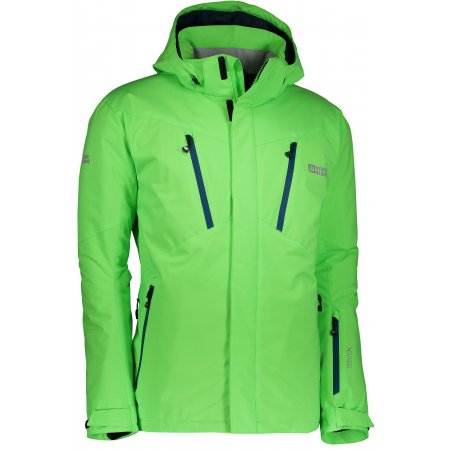 Pánská lyžařská bunda NORDBLANC BLOW NBWJM6404 ZELENÁ JEŠTĚRKA