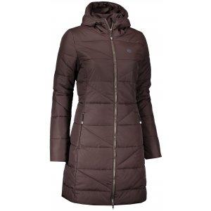 Dámský zimní kabát NORDBLANC TINT NBWJL6428 TEMNĚ HNĚDÁ