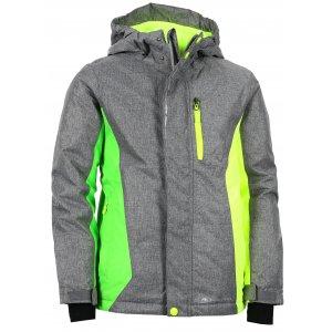 Dětská lyžařská bunda ALPINE PRO WIREMO 2 KJCK081 TMAVĚ ŠEDÁ