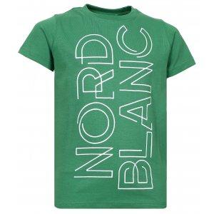 Chlapecké tričko NORDBLANC FRAME NBFKT6572S ZELENÁ NADĚJE