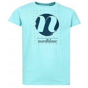 Dívčí tričko NORDBLANC SPIN NBFKT6575L TYRKYSOVÁ