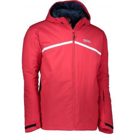 Pánská zimní bunda NORDBLANC ROOF NBWJM6408 TMAVĚ HLINÍKOVĚ ČERVENÁ