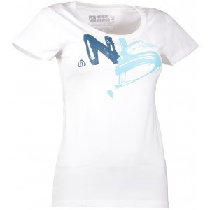 Dámské tričko NORDBLANC PAINTED NBFLT6558 BÍLÁ