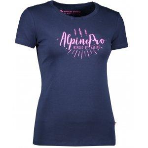 Dámské triko s krátkým rukávem ALPINE PRO UNEGA 3 LTSK224 TMAVĚ MODRÁ
