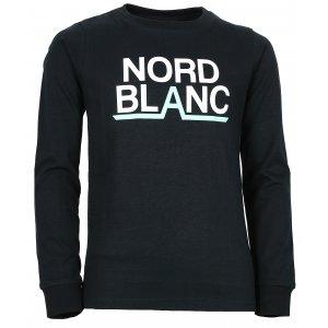 Chlapecké tričko NORDBLANC BALK NBFKT6570S ČERNÁ