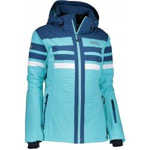 Dámská lyžařská bunda NORDBLANC MOTLEY NBWJL6420 TYRKYSOVÁ