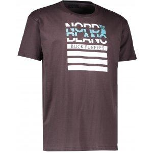 Pánské triko NORDBLANC BUCK NBFMT6542 TEMNĚ HNĚDÁ