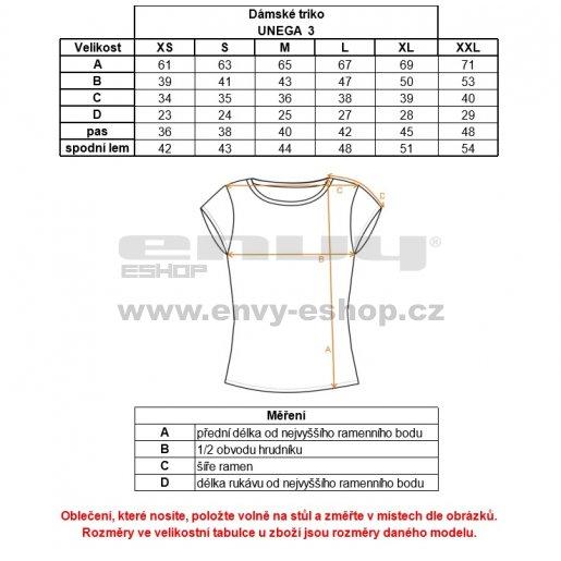 Dámské triko s krátkým rukávem ALPINE PRO UNEGA 3 LTSK224 ČERNÁ VZOR