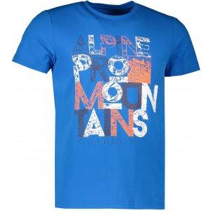 Pánské tričko s krátkým rukávem ALPINE PRO BUFF MTSJ300 MODRÁ