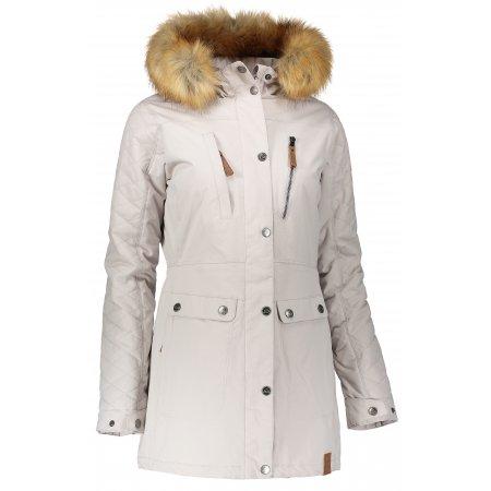 Dámská zimní bunda NORDBLANC FLUFF NBWJL6434 SEVERNÍ ŠEDÁ