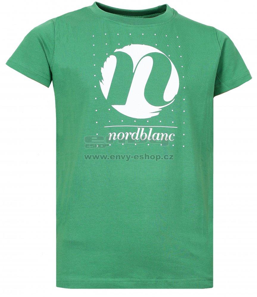 a81ec6f94190 Dívčí tričko NORDBLANC SPIN NBFKT6575L ZELENÁ NADĚJE velikost  146 ...