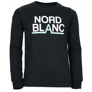 Chlapecké tričko NORDBLANC BALK NBFKT6570L ČERNÁ
