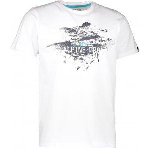 Pánské triko s krátkým rukávem ALPINE PRO UNEG 4 MTSK217 BÍLÁ