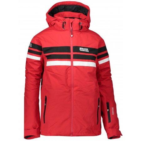 Chlapecká zimní bunda NORDBLANC GLAD NBWJK6465L TMAVĚ HLINÍKOVĚ ČERVENÁ