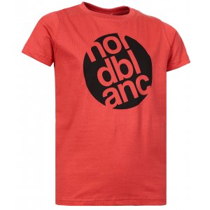 Chlapecké tričko NORDBLANC DOT NBFKT6571L JAHODOVÁ ČERVENÁ