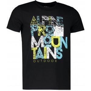 Pánské tričko s krátkým rukávem ALPINE PRO BUFF MTSJ300 ČERNÁ