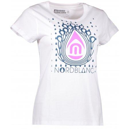 Dámské tričko NORDBLANC DROP NBFLT6560 BÍLÁ