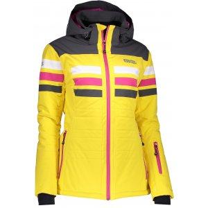Dámská lyžařská bunda NORDBLANC MOTLEY NBWJL6420 ŽLUTÁ