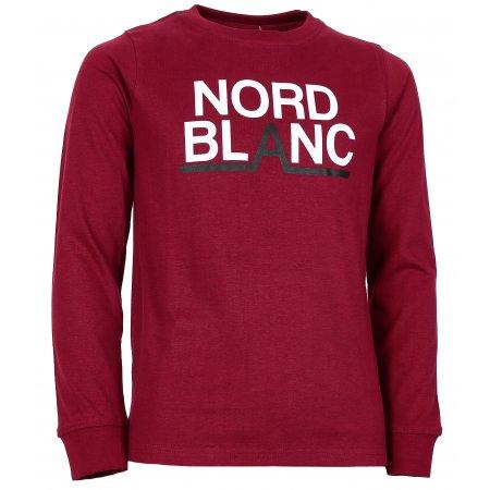 Chlapecké tričko NORDBLANC BALK NBFKT6570L HLUBOCE ČERVENÁ