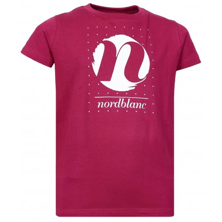 Dívčí tričko NORDBLANC SPIN NBFKT6575L ČERVENÁ MALINA
