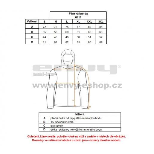 Pánská zimní bunda NORDBLANC CACHE NBWJM6411 JAHODOVÁ ČERVENÁ