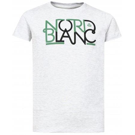 Dívčí tričko NORDBLANC THREAD NBFKT6574L SVĚTLE ŠEDÝ MELÍR