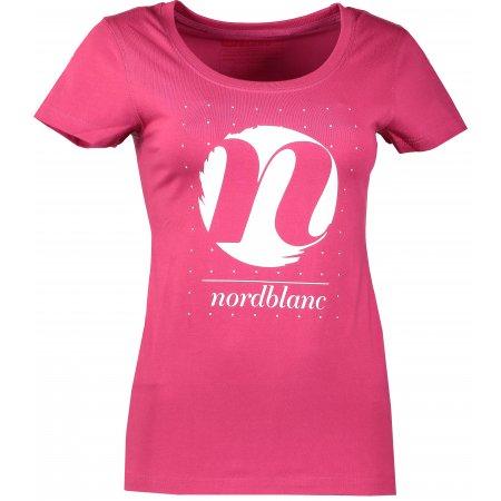 Dámské tričko NORDBLANC CYCLE NBFLT6559 ČERVENÁ MALINA