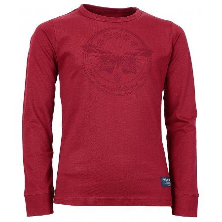 Dívčí tričko NORDBLANC EDEN NBFKT6573S ČERVENÁ MALINA