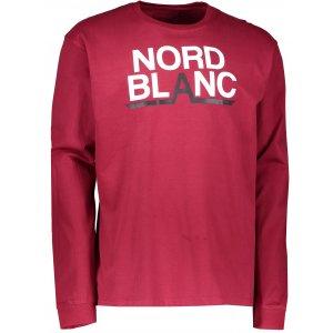 Pánské triko NORDBLANC RADIX NBFMT6550 HLUBOCE ČERVENÁ