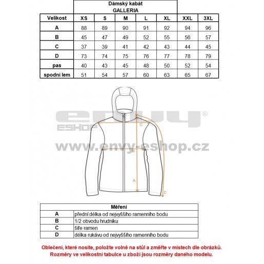 Dámský softshellový kabát ALPINE PRO GALLERIA LCTK044 ČERNÁ