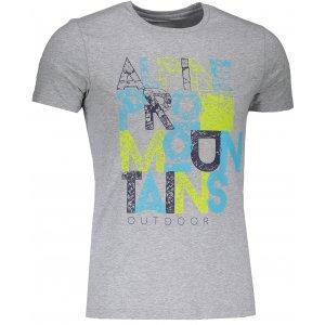 Pánské tričko s krátkým rukávem ALPINE PRO BUFF MTSJ300 ŠEDÁ