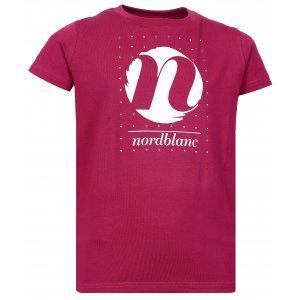 Dívčí tričko NORDBLANC SPIN NBFKT6575S ČERVENÁ MALINA