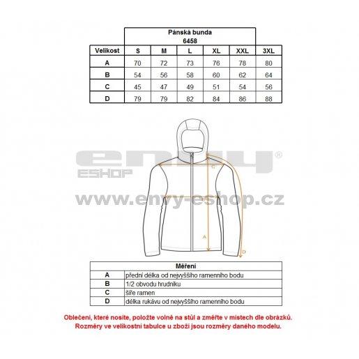 Pánská softshellová bunda NORDBLANC ARMS NBWSM6458 ČERNÁ