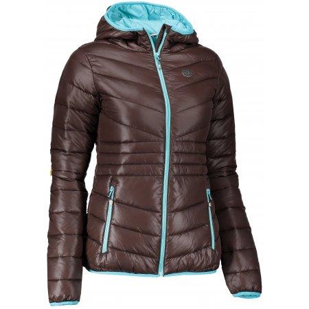 Dámská zimní bunda NORDBLANC GLAMOR NBWJL6429 TEMNĚ HNĚDÁ
