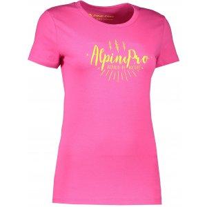 Dámské triko s krátkým rukávem ALPINE PRO UNEGA 3 LTSK224 RŮŽOVÁ