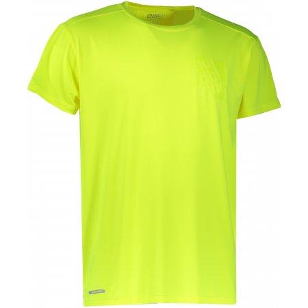 Pánské sportovní triko NORDBLANC SQUARE NBFMF6511 BEZPEČNÁ ŽLUTÁ