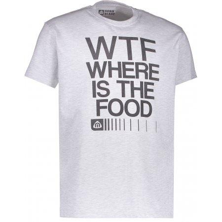 Pánské triko NORDBLANC FOOD NBFMT6547 SVĚTLE ŠEDÝ MELÍR