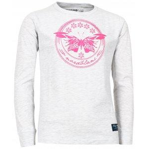 Dívčí tričko NORDBLANC EDEN NBFKT6573S SVĚTLE ŠEDÝ MELÍR
