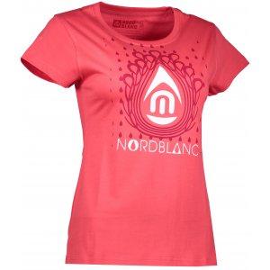 Dámské tričko NORDBLANC DROP NBFLT6560 JAHODOVÁ ČERVENÁ