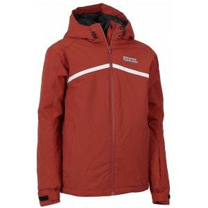 Chlapecká zimní bunda NORDBLANC BOLT NBWJK6467L TMAVĚ HLINÍKOVĚ ČERVENÁ
