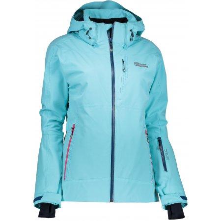Dámská lyžařská bunda NORDBLANC BUBBLY NBWJL6415 TYRKYSOVÁ