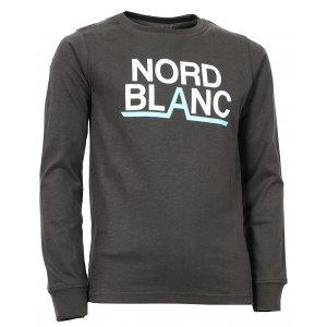 Chlapecké tričko NORDBLANC BALK NBFKT6570S TEMNĚ HNĚDÁ