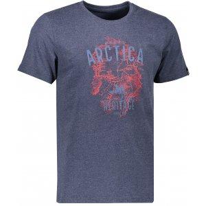Pánské triko s krátkým rukávem ALPINE PRO TIBERIO 5 MTSK222 TMAVĚ MODRÁ