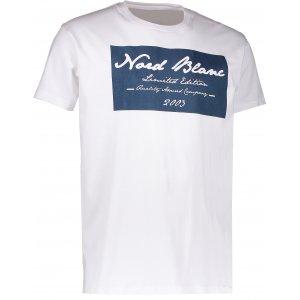 Pánské triko NORDBLANC UNIQUE NBFMT6549 BÍLÁ